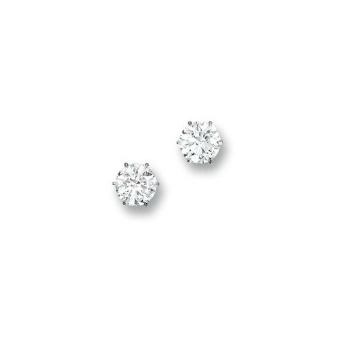 Very Fine Pair of Diamond Ear Studs