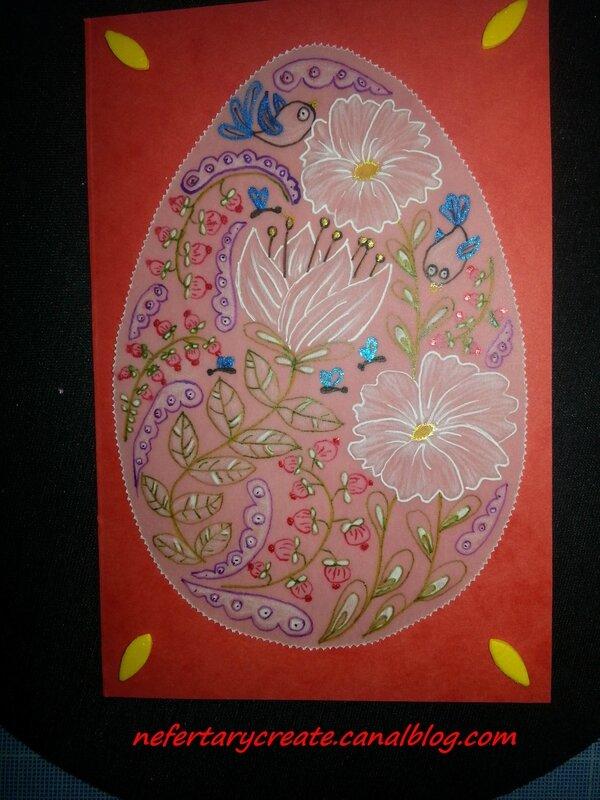 Un oeuf de Pâques en dentelle de papier