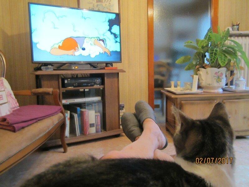 choupi regarde la télé