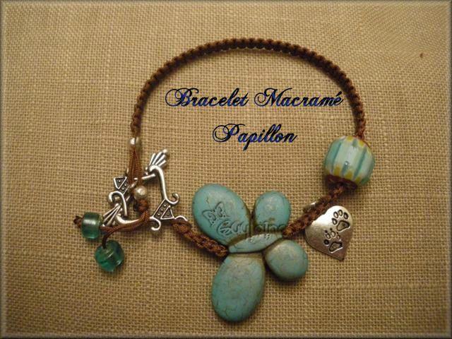 Bracelet Macramé Papillon