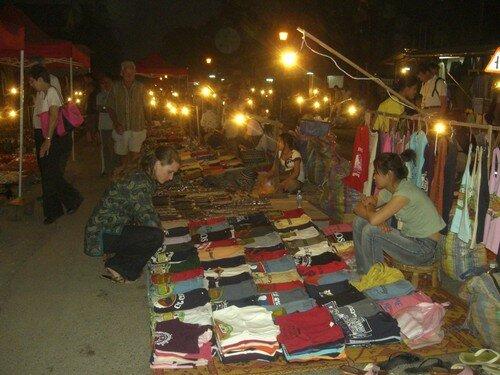 Luang Prabang, marche de nuit