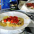 Papillotes de poulet a la pâte d'olives au basilic