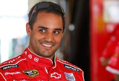 2009-Pocono-Aug-NSCS-practice-Juan-Pablo-Montoya-smiles-sm