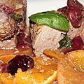 Filets mignons de porc aux cerises, a l'orange et a l'ossau iraty