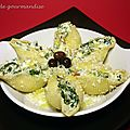 Conchiglies farcis  l'italienne