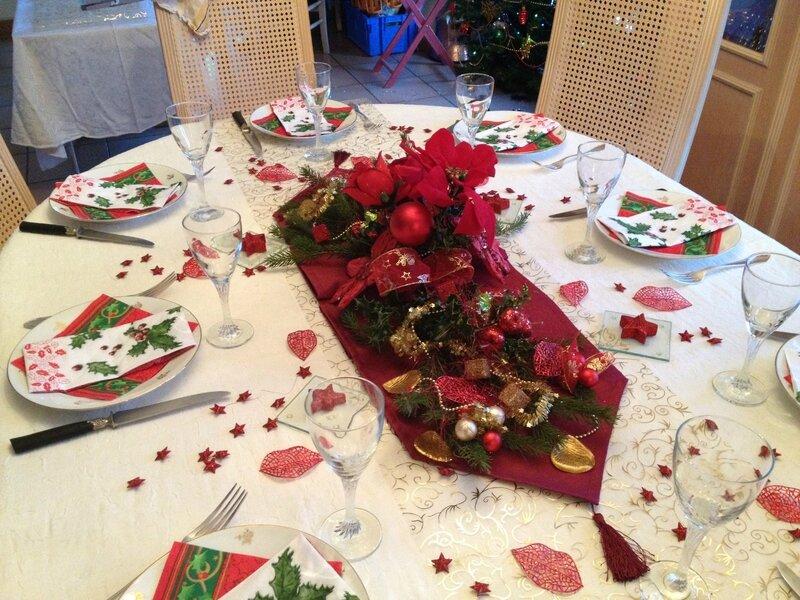 D corez votre table - Table de noel traditionnelle ...