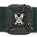 bracelet noir brodé4