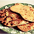 Naans et curry poulet-potimarron