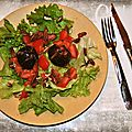 Salade de figues rôties