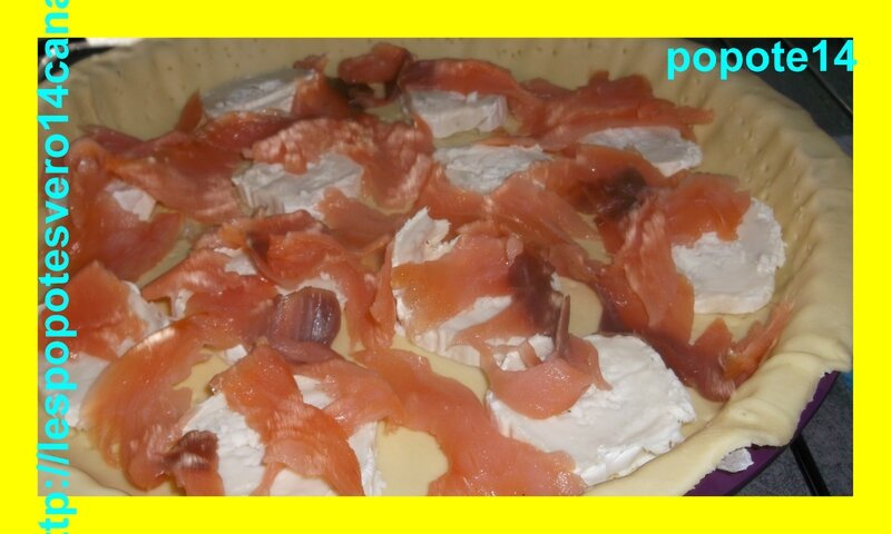quiche chèvre et saumon fumé3