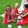 Robe eliette rouge & liberty pour un cortège