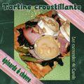 Tartine croustillante épinards & chèvre