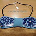 Collier Pap's Craquelé bleu (2)