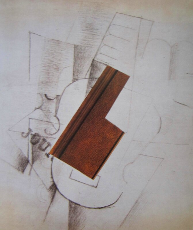 La guitare, papier collé 1912