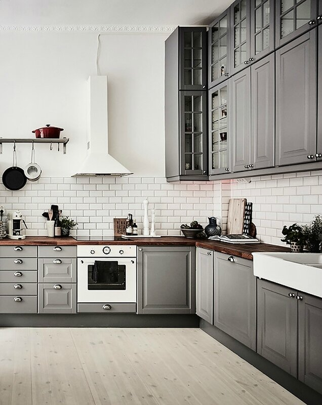 kitchen-grey-cabinets-subway-tiles