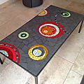 25 table basse 170x40 cm