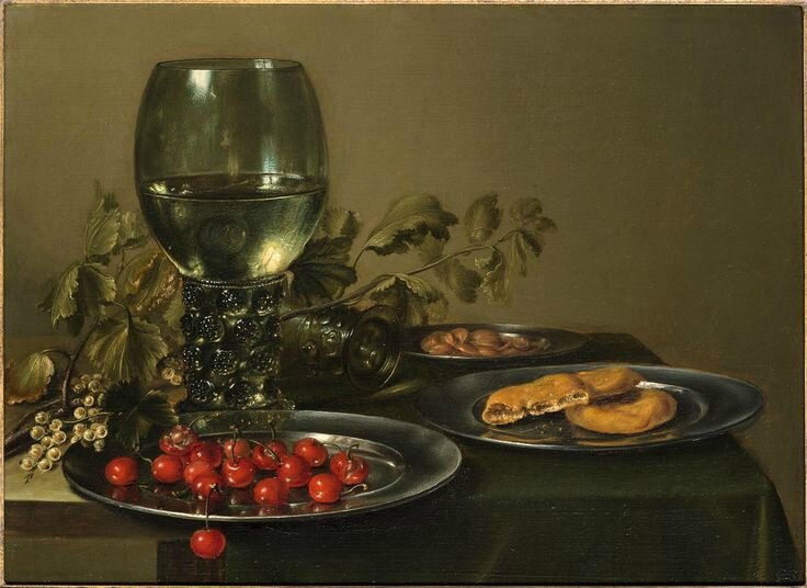 JACOB C. (Haarlem 1635-1645), A Still-Life with a Roemer, Cherries and Biscuits