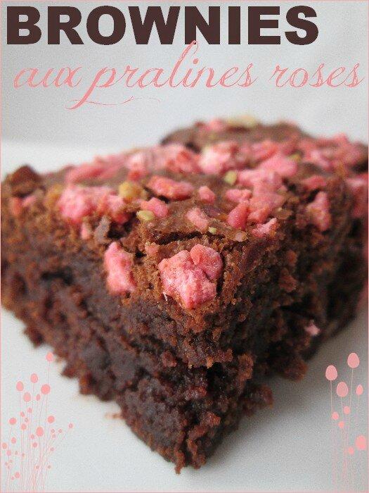 brownies aux pralines roses 1