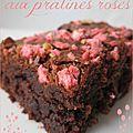 Brownies aux pralines roses