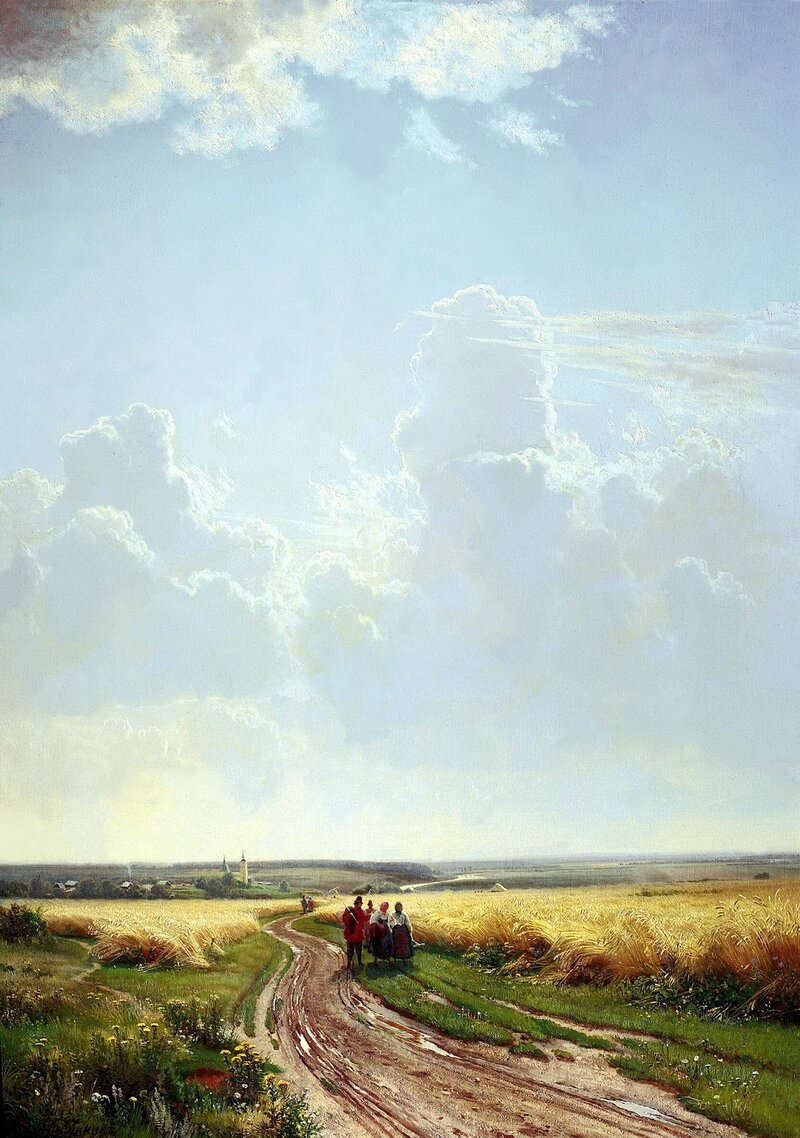 Ivan Shishkin - Noon, In the vicinity of Moscow