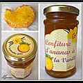 Confiture d'ananas  la vanille...