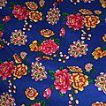 Tissu chinois à motif floral