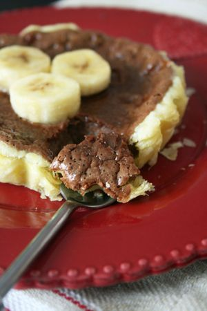 Tartelette chocolat à la banane 2
