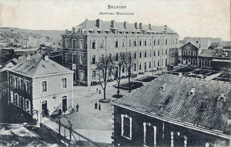 CPA Belfort Hopital militaire 1903-06