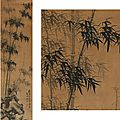 Dai mingyue (1625-1670). bamboo and rock