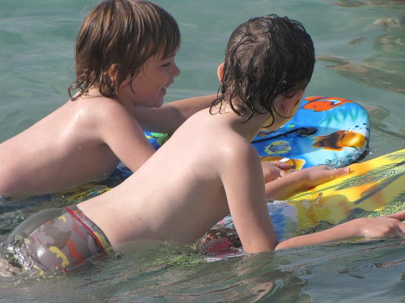 Nathan et Arnaud - juillet 2009