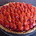 La saison des tartes aux fraises est ouverte!!! tarte aux fraises de philippe conticini.