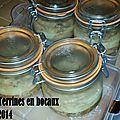 Mes conserves d'hiver #2 terrines en bocaux