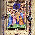 26 - Heures Visconti - folio BR1 - mariage avec embleme Visconti de la razza - bibl de Florence
