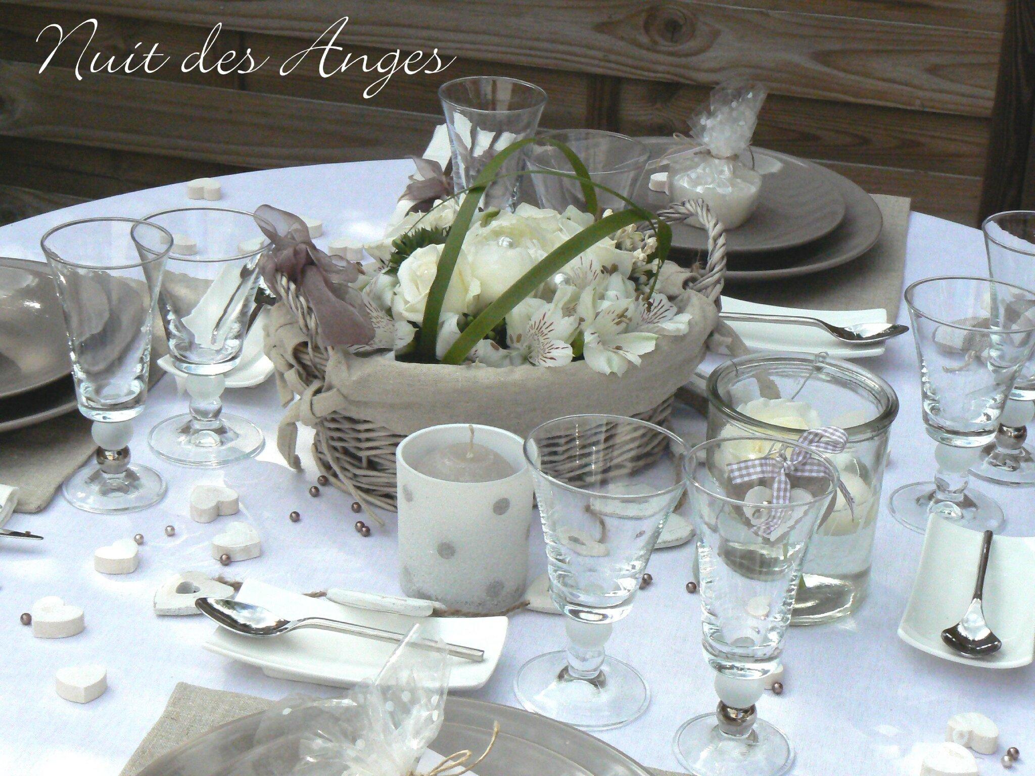 Nuit des anges décoratrice de mariage décoration de table lin 006 ...