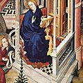1393-99 BROEDERLAM Annonciation - détail - Musée de Dijon
