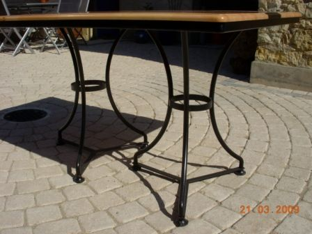 Table De Cuisine Genre Bistrot Faite Sur Mesure Table En