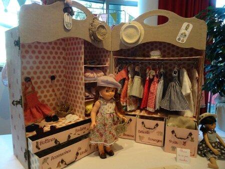 Malle cabine poupées