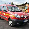 Renault kangoo dci véhicule léger de commandement des pompiers
