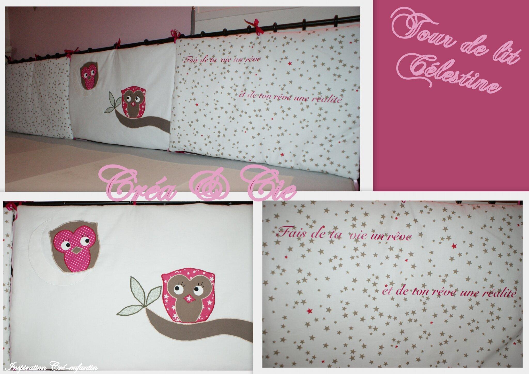 tour de lit c lestine photo de couture b b cr a et cie la couture dans tous ses tats. Black Bedroom Furniture Sets. Home Design Ideas