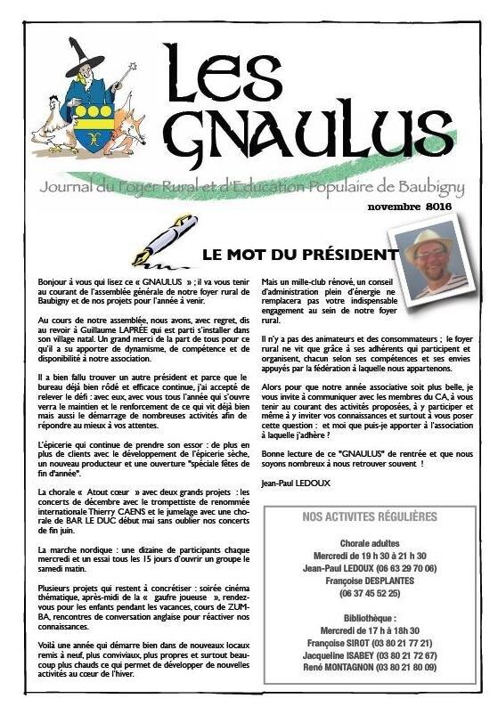 Le Gnaulus de novembre 2016
