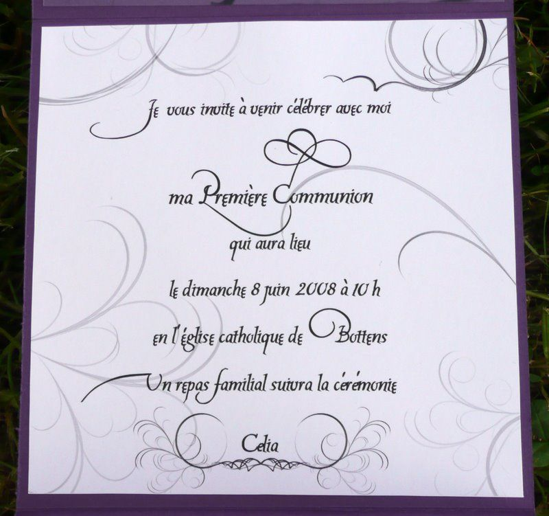 Fabulous Carte de première Communion - Photo et scrapbooking by Pat BN13