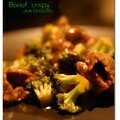 Boeuf crispy aux brocolis