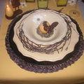 Table pâques jaune-brune