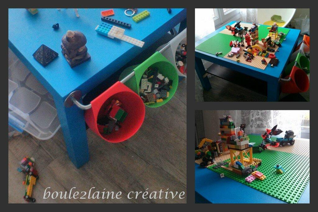 Bricolage et recyclage: la table à lego de Pablo
