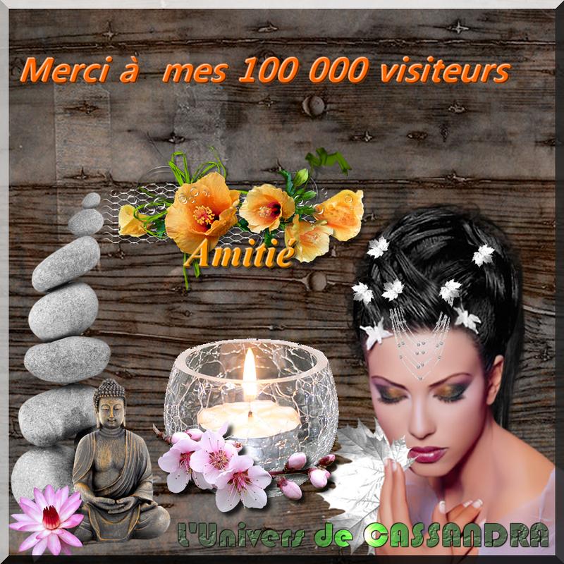 Remerciement 100 000 visiteurs cassandra