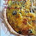 Quiche aux fanes de radis, poireaux, lardons,fromage ail et fines herbes