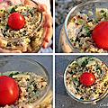 Taboulé de quinoa au lait de coco