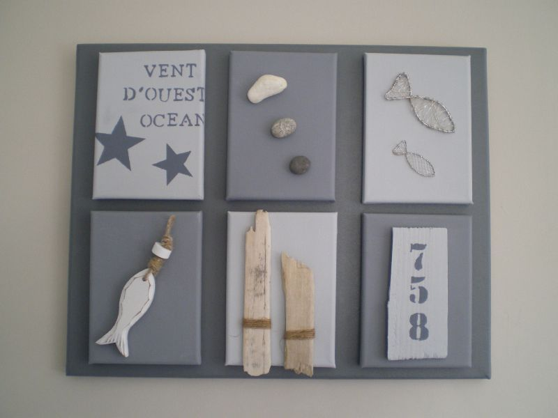 Home d co th me bord de mer la belle au bois flotte for Tableau home deco moderne