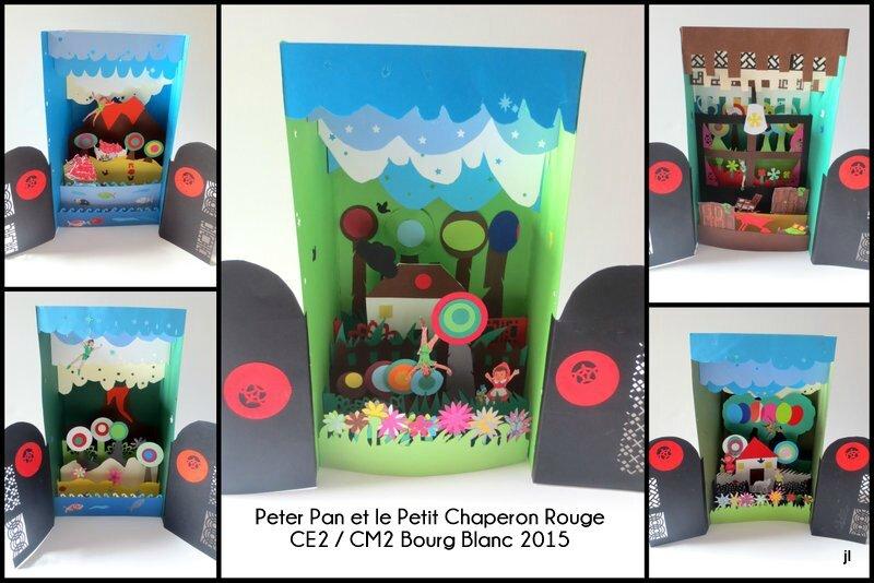 Projet Contes en dioramas CE2 CM1 CM2 Bourg Blanc 20153