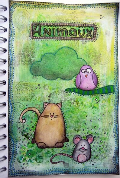 art journal gribouillages animaux